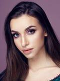 Pretty brunette woman portrait Stock Image