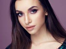 Pretty brunette woman portrait Royalty Free Stock Image