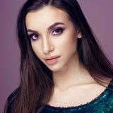 Pretty brunette woman portrait Stock Photography