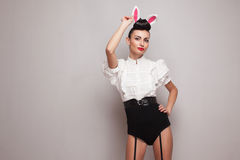 Pretty bunny girl Royalty Free Stock Image