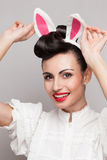 Pretty bunny girl Royalty Free Stock Images
