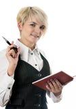 Pretty business lady with organizer Stock Image