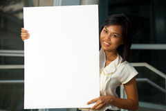 Pretty Business Professional Blank Poster H Royalty Free Stock Photo