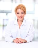 Pretty business woman Stock Images