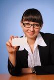 Pretty business woman Stock Photo