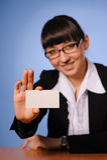 Pretty business woman Stock Image