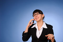 Pretty business woman Stock Image