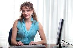 Pretty business woman. Stock Photos
