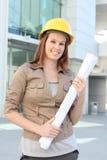 Pretty Business Woman Architect Stock Photos