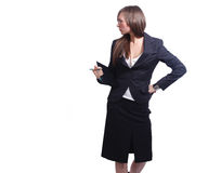 Pretty business woman Royalty Free Stock Image