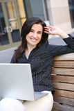 Pretty Business Woman on Laptop Stock Images
