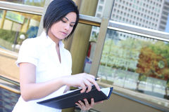Pretty Business Woman at Office Stock Photos