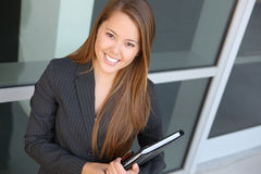 Pretty Business Woman at Office Royalty Free Stock Photos