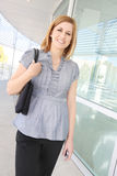 Pretty Business Woman at Office Royalty Free Stock Images