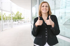 Pretty Business Woman at Office Royalty Free Stock Photo