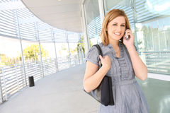 Pretty Business Woman at Office Stock Image