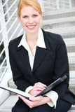 Pretty Business Woman at Office Stock Photo