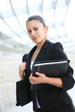 Pretty Business Woman at Office Building Stock Images