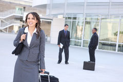 Pretty Business Woman at Office Building Royalty Free Stock Image