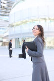 Pretty Business Woman at Office Building Stock Photography