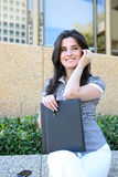 Pretty Business Woman Outside Office Royalty Free Stock Image