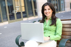 Pretty Business Woman Outside Office Royalty Free Stock Images