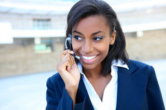 Pretty Business Woman on Phone Stock Photos