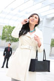 Pretty Business Woman on Phone Stock Image
