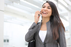 Pretty Business Woman on Phone Royalty Free Stock Photo