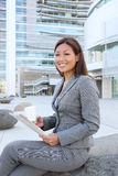 Pretty Business Woman Reading Royalty Free Stock Image