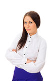 Pretty business woman standing Stock Image