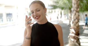 Pretty Business Woman Using Cell Phone stock footage
