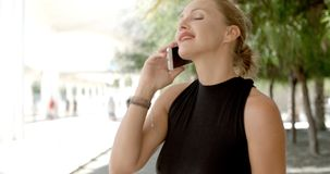 Pretty Business Woman Using Cell Phone stock video footage
