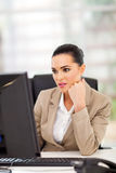 Business woman desk Royalty Free Stock Photos