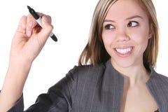 Pretty Business Woman Writing Royalty Free Stock Photo