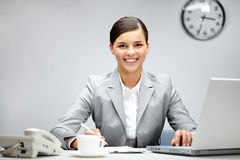 Pretty businesswoman Stock Image
