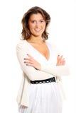 Pretty businesswoman stock image