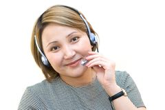 Pretty businesswoman. Having a phone call royalty free stock photography