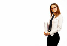 Pretty businesswoman. Royalty Free Stock Photo