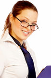 Pretty businesswoman. royalty free stock image