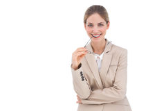 Pretty businesswoman with glasses Royalty Free Stock Photo