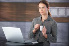 Pretty businesswoman having a break Royalty Free Stock Images