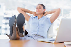Pretty businesswoman having a nap Royalty Free Stock Photography