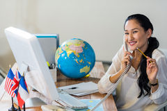 Pretty businesswoman having phone call Royalty Free Stock Images