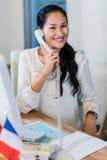 Pretty businesswoman having phone call Stock Image