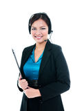 Pretty Businesswoman With Headset Stock Image
