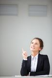 Pretty businesswoman Stock Images