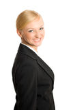 Pretty businesswoman isolated Stock Images