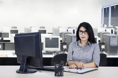 Pretty businesswoman looks confident Stock Photography