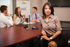 Pretty businesswoman in an office Royalty Free Stock Photo